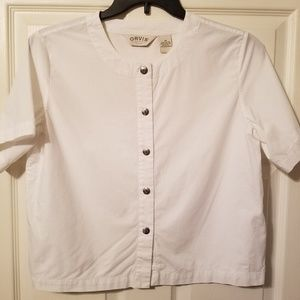 Orvis short sleeve button down size med nwot